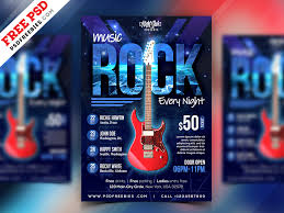 Event Flyers Free Free Psd Rock Music Event Flyer Psd Template By Psd