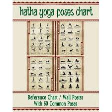 Yoga Pose Chart Poster Hatha Yoga Poses Chart 60 Common Yoga Poses And Their Names A Reference Guide To Yoga Asanas Postures 8 5 X 11 Full Color 4 Panel Pamphlet