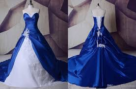 Wedding Court Design New Royal Blue And White Wedding Dresses Innovative Design