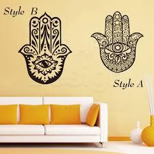 art colorful design house decor vinyl fatima hamsa hand wall