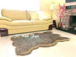 fake polar bear rug with head white faux fur skin best rugs grizzly