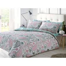 pieridae paisley duvet cover set pastel pink sm