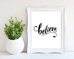 Small Picture Believe quote Etsy
