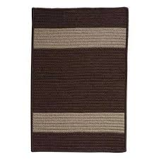 cafe milano 6 ft x 9 ft chocolate indoor outdoor braided area rug