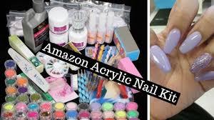 amazon acrylic nail kit unboxing