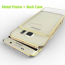 samsung galaxy s6 edge gold. gold samsung galaxy s6 and edge plastic cases or covers with metal frame sg612_4