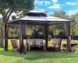 Decorations:Ergonomic Outdoor Canopy Tent With Living Area Also Seating  Furniture On Backyard Ergonomic Outdoor