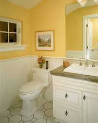 Bathroom: Gorgeous Yellow Bathroom Décor With Yellow Walls And ...