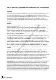 hsc section long essay response financial strategies and hsc section 4 long essay response financial strategies and influences
