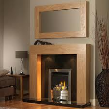 GB Mantels Windsor Clear Oak Fireplace Suite