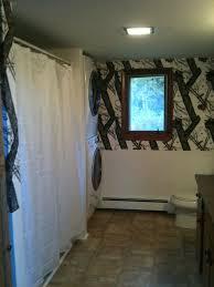 themed bathroom trash camo