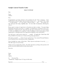 Unique Cover Letter Examples For Job Transfer In Cover Letter For