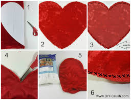 Pillow Sewing Patterns Best Free Valentine's Heart Pillow Sewing Pattern DIY Crush