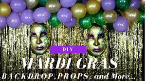 Giant Masquerade Mask Decoration Mardi Gras DIY Decorations Backdrop Masks Hurricane Cocktail 93