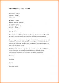 Best Cover Letter For Bank Teller Bank Teller Resum