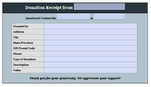 Donation Tax Receipt Template Fresh Free Donation Invoice