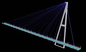 Suspension Bridge Model Design Long Suspension Bridge Design 3d View 3d Max Plan N Design