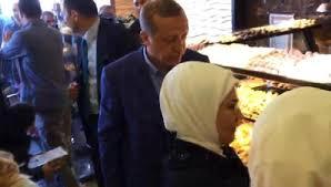 Erdoğan oyunu kullandıktan sonra alışveriş yaptı