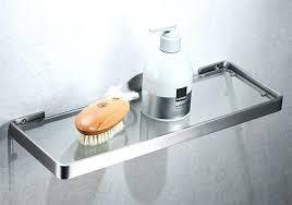 bathroom glass shelves inch frosted glass bath shelf with satin nickel stainless steel wall mounts ikea bathroom glass shelves