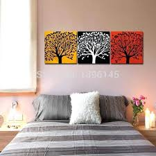 office wall paintings. Modern Office Wall Art Painting Three Colors Tree Yellow Black Red Mural Oil Paintings Home . A