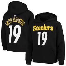 Hoodie Name Pullover Player Juju Black Number Mainliner Smith-schuster amp; Pittsburgh Steelers Youth Fleece|The Saints' Tremendous Bowl Victory