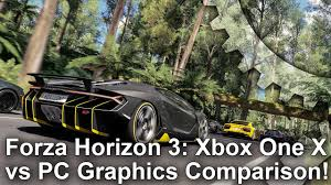 [4K] Forza Horizon <b>3</b>: Xbox One X vs <b>PC</b> Graphics Comparison + ...