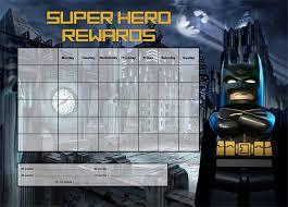Lego Batman Reward Chart Batman A4 Notepad Reward Chart 25 Pages Kristen Doherty