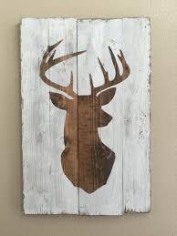 deer wood silhouette wall art