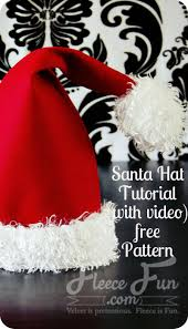 Santa Hat Pattern Mesmerizing Santa Hat How To With Free Pattern And Video Tutorial