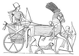 coloring page ancient egyptian chariot ancient egyptian chariot