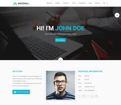 Programmer Personal Website Template 15 Best Html Resume Templates