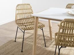 Rattan Dining Chair Set Of 2 Mocka Nz