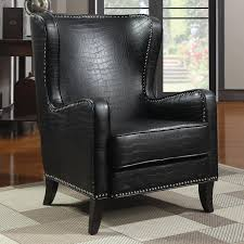 Leather Accent Chair With Ottoman Leather Tweetalk
