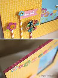 easy diy frame made with party with amy locurto from pebbles sbook collection diy gift