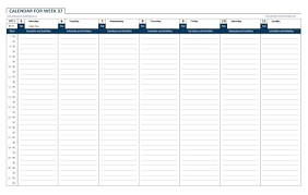 24 Hour Weekly Calendar Template Schedule By Hours Jjbuilding Info