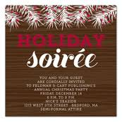Corporate Holiday Party Invite Invitation Wording Samples By Invitationconsultants Com