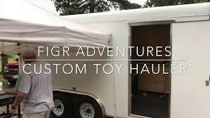 custom toy hauler 16 foot cargo trailer conversion