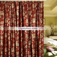 red blackout fl luxury ployester print bedroom curtains loading zoom