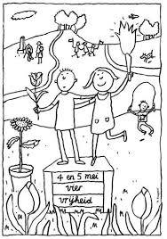 Kleurplaat 45 Mei 4 En 5 Mei Voor Nederlandse Kinderen In Het