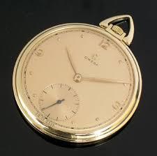 solid 14ct gold omega mens art deco pocket watch c1944 267030 solid 14ct gold omega mens art deco pocket watch c1944
