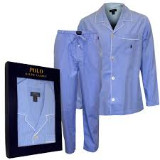Light Cotton Pyjamas Polo Ralph Lauren Classic Woven Cotton Pyjama Set Light Blue