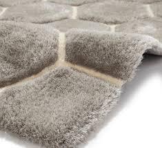 grey white hexagon rug super soft gy pile noble house honeycomb floor mat