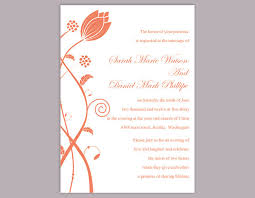 Invitations In Word Template Diy Wedding Invitation Template Editable Word File Instant Download