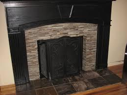 glass tile fireplace surround popular ceramic black stone fireplaces elegant image with 29s home design slate