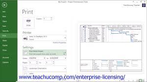 Microsoft Project Print Without Gantt Chart Microsoft Project Printing Tutorial Printing Views In