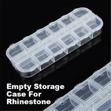 2019 new empty 12 slots clear divided storage box jewerly nail art tips small beads case organizer storage box c19010501 from tong06 34 78 dhgate com