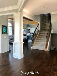 Dark hardwood floor Brown Dark Hardwood Floors Jennifer Allwood Shopforchangeinfo Our Flooring Makeover With prestained Dark Hardwood Floors
