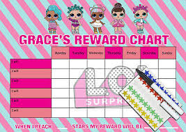 Lol Surprise Childrens Behaviour Chore Reward Chart