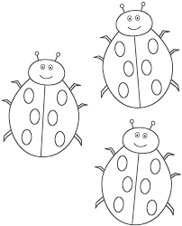 Small Picture Three Ladybugs Coloring Page Insects