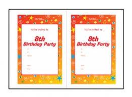 8th Birthday Party Invitations Birthday Party Invitation Templates For 8 Year Old 8th Birthday Ichild